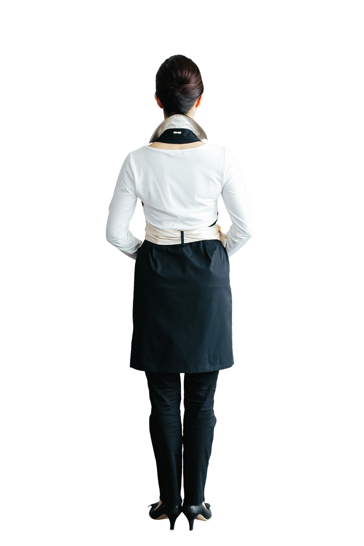 《再入荷》襟付きカシュクール ブラック×シャンパンゴールド